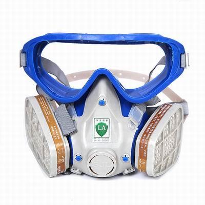 【自吸式防毒面具組合套裝-YF-D-1套/組】噴漆防護防毒口罩面具組合式罩體可洗濾盒可換-586039