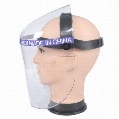 【有機玻璃防護面罩面具-透明-1個/組】防衝擊打磨防塵防飛濺全面具-586039