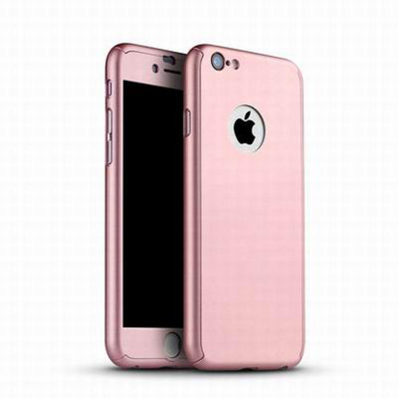 【蘋果360度保護殼-4.7/5.5寸-1個/組】iPhone6蘋果i6全包手機殼360度保護PC防火(送鋼化膜)-586050