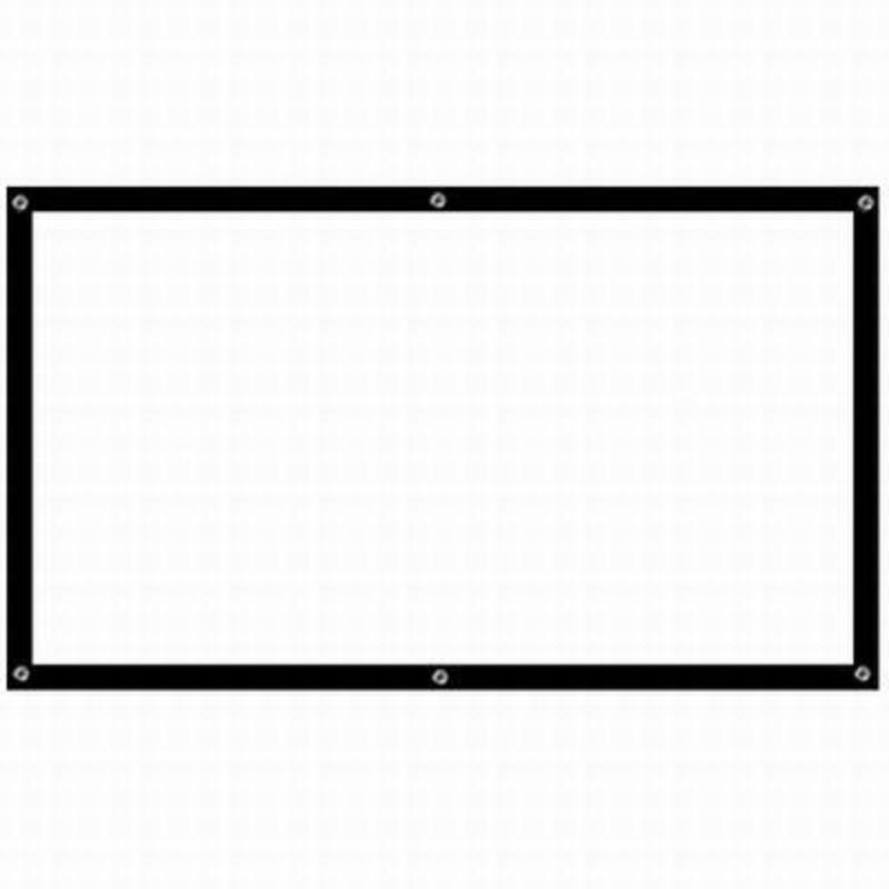 【便?式投影幕布-84寸-168*105cm-1套/組】比例16:9 投影儀幕壁掛幕4K超清顯示打孔帶黑邊-586056