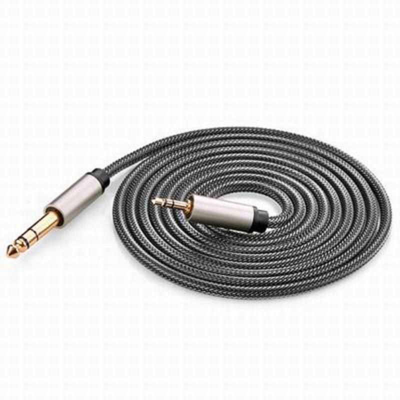 【3.5轉6.35音頻線-AV127-公對公-300cm-1條/組】電腦功放調音台音箱吉他連接線 (長可訂)-586062