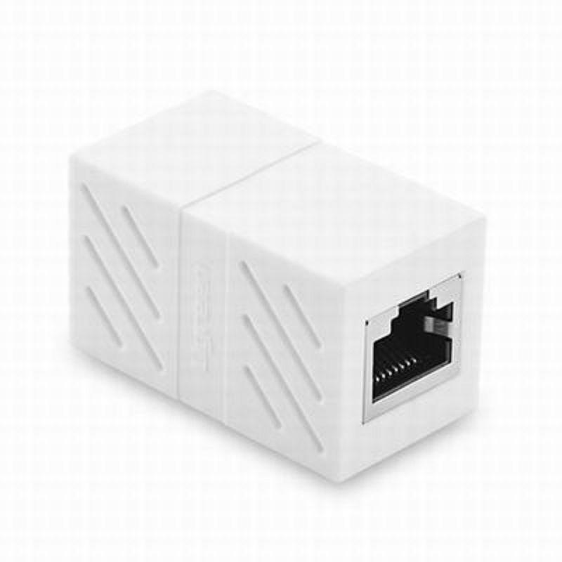 【RJ45網路直通頭-母對母-ABS-4.3*2.5*2.3cm-1個/組】網線連接器對接頭網路雙通頭網線延長-586062