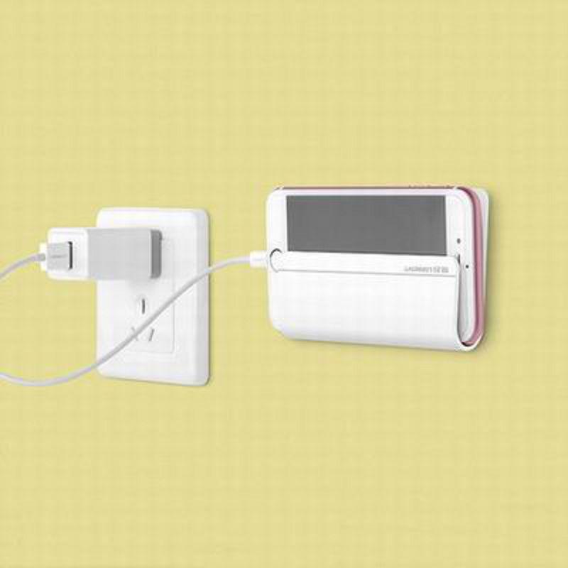 【壁掛式手機平板充電支架-LP108-11.7*6.9cm-1套/組】手機平板通用牆壁粘貼式固定座充電-586062