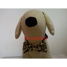 寵物飾品/精美項圈蝴蝶結/外貿尾單/寵物配飾-豹紋M中型犬-7901001