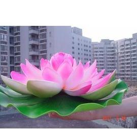 模擬荷花 睡蓮花 荷葉 塑膠 表演道具 水景裝飾 形象真58cm-7901002