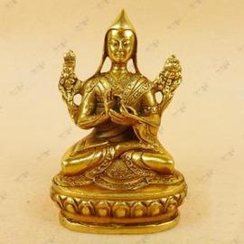 【佛像-銅-小宗喀巴】佛教用品 藏傳佛教 藏佛 藏傳密宗銅佛像 宗喀巴小藏佛-7501002