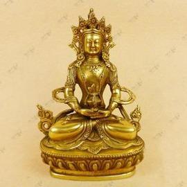 【佛像-銅-小長壽佛】佛教用品 藏傳佛教 藏佛 藏傳密宗銅佛像長壽佛小號佛像-7501002