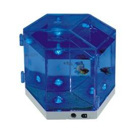 迷你魚缸夜光水族箱 藍色情調魚缸鬥魚缸LED藍色NA-3-7901003