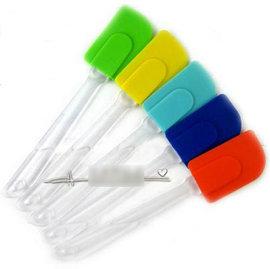 【刮刀-矽膠-小號-3支/組】矽膠刮刀 矽膠刮板 烘焙工具 廚房清潔 奶油刮刀(25*5.8cm(矽膠部份8.5*5.8cm)) 3支/組(可選顏色)-8001001
