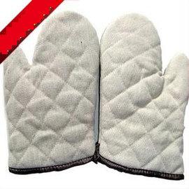 【隔熱手套-普質棉-大號】高溫微波爐手套 普質棉隔熱手套 高溫烘焙手套工具(大號:36*17.5cm)2只/包-8001001