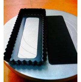 【菊花派盤-活底長方-不粘-A250】長方形菊花派盤 不粘塗層蛋糕模具 烤箱用(25*10.5*2.3cm)-8001001