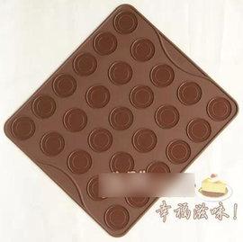 【烤盤-矽膠-27連馬卡龍-圓形-2個/組】diy製作耐高溫模具 烤箱用餅乾烘焙工具(大圈3.8小圈2.3cm) 可做矽膠墊(29*26cm)-8001002
