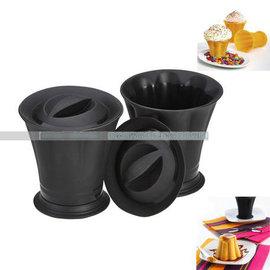 【迷你蛋糕模-矽膠-圓筒形-8*9cm-2個/盒】布丁模果凍模jelly模 烘焙模具烤箱微波爐用(上徑8下徑6cm高9cm)-8001003