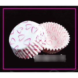 【紙杯托-油紙-白色心形-4.5*2.2-10包/組】油紙托 紙杯 一次性 巧克力蛋糕托(直徑上口6.5下底4.5高2.2cm)10包/組(可混選)-8001006