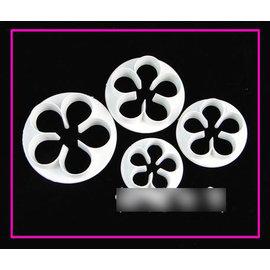 【翻糖模-塑膠-4件玫瑰花】翻糖工具 糖花工具 玫瑰花壓模(一套四件)-8001006