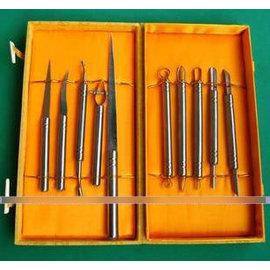 【食品雕刻刀-高速鋸條鋒鋼制-10件套】 鋒鋼主刀+精鋼雙頭拉 戳刻刀-8001008