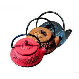 【泡茶壺-鑄鐵-多色-圓-松竹梅-鑄-50ml】迷你粒子茶壺 手感好 可當把玩件 精品工藝生產(容量50ml) ,多色可選-8001017