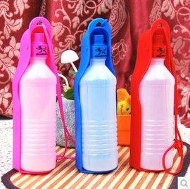 【寵物水壺-塑膠-500ml-2個/組】可折疊外出攜帶  狗狗水壺(自動出水式) 三色可選,500ml ,2個/組-79011