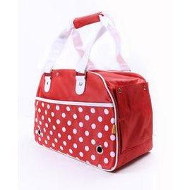 【外出便攜包-點點-尼龍料-大號-442332】大號寵物包 狗狗包寵物袋 貓咪外出攜帶包,L44*W23*H32cm-79011