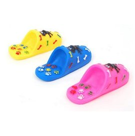 【響聲玩具-拖鞋-塑膠-120504-3個/組】狗狗玩具 無毒好玩 寵物玩具 給愛咬鞋子的狗狗 圖案及顏色隨機發,12.5*5.5*4.5cm,3個/組-79011