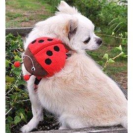 【寵物牽引繩配胸背-金龜子-拉帶115-胸背33-40cm】寵物狗狗貓咪牽引繩 柔軟不傷脖子,拉帶長115cm  胸背33-40cm 背包直徑11cm-79011