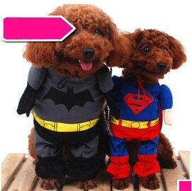 【寵物服裝-超人裝蝙蝠俠-春夏秋-兩款可選-2號】寵物狗狗貓咪衣服 兩款可選,2號:頸圍22-26cm,肩高大約21cm以下-79011