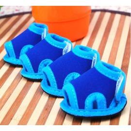 【寵物涼鞋-魚口鞋-橡膠底-5規格可選-4只/包】寵物狗狗貓咪鞋子 夏季防水涼鞋  規格:1號~5號(請對照尺碼說明)-79011