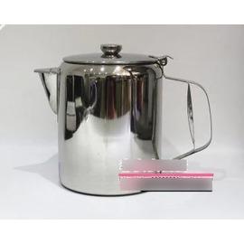 【不銹鋼港式奶茶壺-不銹鋼-直徑14.5*高20cm-2.8L-1套/組】絲襪奶茶壺 咖啡壺 沖茶壺 拉茶壺,電磁爐可用-7501007