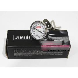 【咖啡溫度計-指針式-不銹鋼-13.5cm-1套/組】測量範圍-10~110℃ 打奶溫度計 指針溫度計 花式咖啡必備-7501007