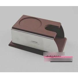 【壓粉座-不銹鋼一體成型-14.3*9.2*高5.7cm-1個/組】壓粉座 填壓座 咖啡壓粉器支撐座 架子 意式咖啡玩家必備 -7501007