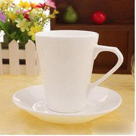 【純白骨瓷咖啡杯-口徑8*高10cm-220ml-2套/組】純白新骨瓷拿鐵咖啡杯套裝 卡布基諾咖啡杯子,量大從優-7501008