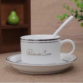 【陶瓷咖啡杯-120-150ml-(碟*1+杯*1+瓷勺*1)/套-2套/組】陶瓷新骨瓷創意咖啡杯套裝 歐式個性創意,多種款式可選、量大從優-7501008