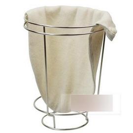【濾泡咖啡沖架+沖袋-大號(2-20人份)-法蘭絨+不銹鋼-直徑24*高42.5cm-1套/組】濾泡咖啡滴漏咖啡手沖咖啡濾架-7501009