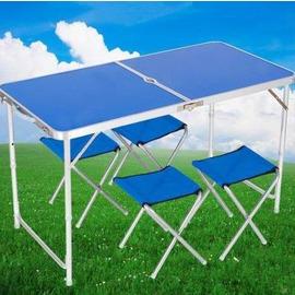 【戶外折疊桌椅-9917-桌-120*60*55/62/70cm-單桌/組】三個檔位可調節高度,野餐桌沙灘桌椅展業便攜式桌椅手提桌箱式桌椅-56003