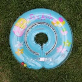 【嬰兒脖圈-PVC-充氣後外徑40*內徑8cm-1套/組】寶寶學泳泳圈 兒童嬰兒游泳脖圈 學泳脖圈 適合2-6個月大(非救生衣設備)-76033