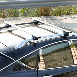 【通用型載重橫杆車頂架-升級款1.2米-總長124-桿120*5.6*3.0cm-2根/組】安裝于縱向行李架 帶鎖橫杆汽車自行車架-7682038