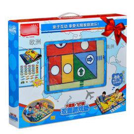【160*100雙面飛行棋大富翁-棋盤160*100*0.6cm-1套/組】一張毯子兩種遊戲 兒童益智迪士尼玩具豪華愛情公寓版 親子遊戲地毯式飛行棋-56021