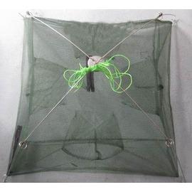 【加固型捕魚籠-4進口80cm-80*80cm-2套/組】加固型密眼網 捕魚網 捕蝦網 地籠 魚籠 蝦籠-76029