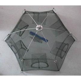 【加固型捕魚籠-6進口100cm-直徑100cm-2套/組】加固型密眼網 捕魚網 捕蝦網 地籠 魚籠 蝦籠-76029