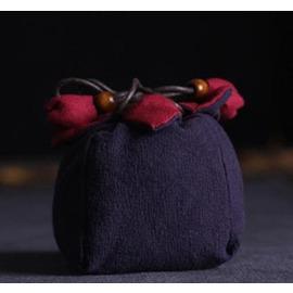 【手工布袋-壺袋/杯袋4號-長8*寬8*高11.5cm-2個/組】龍泉青瓷茶具功夫茶杯禮品袋茶道零配手工陶瓷茶杯子布袋4號-7501021