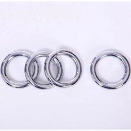 【鐵線圈-中號-電鍍不銹鋼-線徑1.8-內圈徑9-外徑12cm-2個/組】負重設備 優質電鍍練功環洪拳鐵環 鐵線圈功夫環-56047