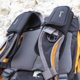 【減震肩腰帶墊-帶扣雙層款-30*8.5cm-厚10mm-2個/組】SBR潛水料改善背負舒適性 背包減震肩帶墊/腰帶墊 加厚保護腰墊肩墊-76012