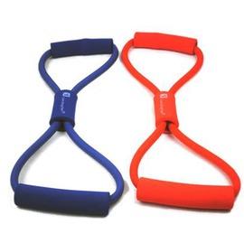 【8字拉力繩-塑膠+泡棉-厚6mm*長11cm-2套/組】八字拉力繩 擴胸器 練胸肌臂力 加粗款拉力繩 男士女士都能用-56001