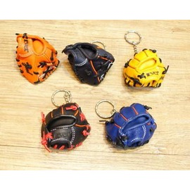 【牛皮迷你棒球手套鑰匙圈-全牛皮製-7*6cm-1個/組】全新臺製牛皮手套鑰匙圈 銷日款式,多款可選-56004