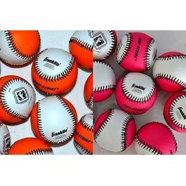 【軟式棒球-外皮PVC內心橡膠發泡球心-9號-直徑7.3cm-6個/組】軟棒球 顏色鮮艷,多色可選可混搭-56004