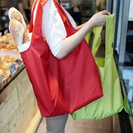 【旅行便攜折疊購物袋-尼龍-35*58cm-2個/組】大號尼龍購物袋 手提包 創意環保袋 防水拉鏈 折疊便攜袋子-76002
