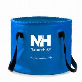 【戶外折疊水桶-10L-直徑24.5*高24.5cm-1個/組】防水夾網布+滌綸織帶 可伸縮便攜折疊釣魚水桶圓形折疊水桶10L/16L-76013