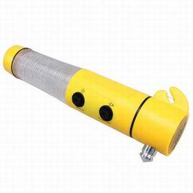 【自駕遊裝備-四合一安全錘-3套/組】多功能安全裝備 隨身逃生錘(套裝 : 破窗器*1+反光三角板*1+交通衣*1+警示燈(不含電池)*1)-76013