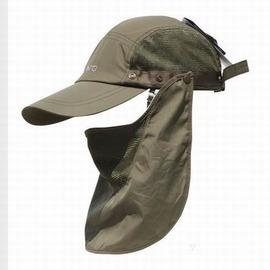 【男士防曬帽-大簷-均碼(頭圍-60cm可調)-1頂/組】360度戶外防紫外線漁夫帽戶外鴨嘴防曬釣魚帽速乾涼帽叢林帽-76013