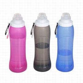 【液態矽膠折疊水瓶-500ml-直徑7*高23cm-1個/組】時尚折疊水壺戶外飲水袋便攜可折疊水瓶運動水壺旅遊壺-76013